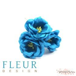 Цветы Магнолии бирюзовые, размер цветка 4 см, 3 шт/упаковка FD3133266