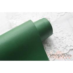 Переплетный кожзам (экокожа) с тиснением, цвет ярко-зеленый матовый (Италия) 60*35см