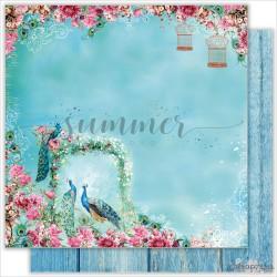 """Лист двухсторонней бумаги """"HEAVENLY PLACE"""", коллекция: """"BIRD OF PARADISE"""""""