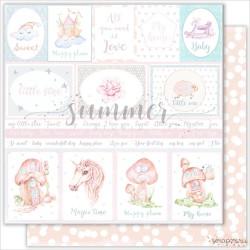 """Лист двухсторонней бумаги  """"CARDS"""", коллекция: """"Vanilla dreams"""""""