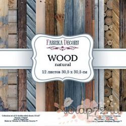 Набор скрапбумаги Wood natural 30,5x30,5 см 12 листов