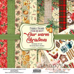 Набор скрапбумаги Our warm Christmas 30,5x30,5 см 10 листов