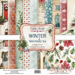Набор скрапбумаги Winter wonders 30,5x30,5 см, 10 листов