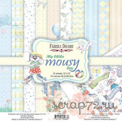 Набор скрапбумаги My little mousy boy 30,5x30,5 см 10 листов