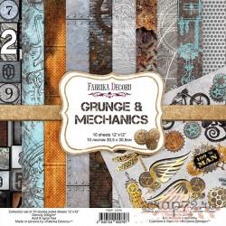 Набор скрапбумаги Grunge&Mechanics 30,5x30,5 см 10 листов