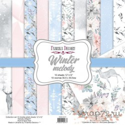 Набор скрапбумаги Winter melody 30,5x30,5 см 10 листов