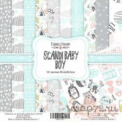 Набор скрапбумаги Scandi Baby Boy 30,5x30,5 см 10 листов