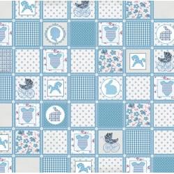 """Бумага для скрапбукинга """"Цветные"""" голубое одеяло 30,5х30,5см, 140гр/м2"""