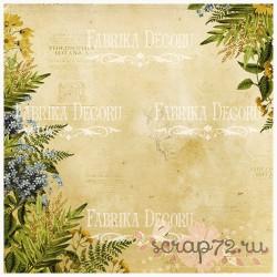 """Веллум полупрозрачный (лист кальки с рисунком) """"Botany Spring"""""""