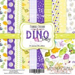 "Набор скрапбумаги ""Dino baby"", 20x20см, 10 листов"