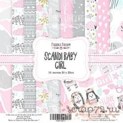 """Набор скрапбумаги """"Scandi Baby Girl"""" 20x20 см, 10 листов"""