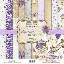 "Набор скрапбумаги ""Lavender Provence"" 20x20см, 10 листов"
