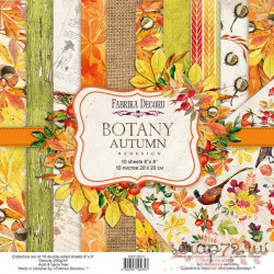 "Набор скрапбумаги ""Botany autumn redesign"" 20x20см, 10 листов"
