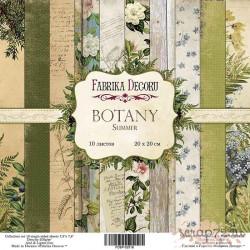 """Набор скрапбумаги """"Botany summer"""", 20x20см, 10 листов"""