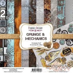 """Набор скрапбумаги """"Grunge&Mechanics"""", 20x20см, 10 листов"""