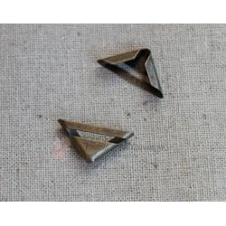 Уголки металлические, бронза, 23*17мм, 1шт.