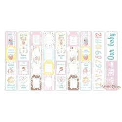 "Набор полос с картинками для декорирования ""Sweet baby girl"", 5 шт, 5х30,5 см"