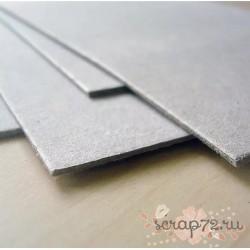 Картон переплетный, серый, 2 мм, 1260г/м2, 30х30 см