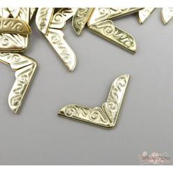 """Защитный уголок для альбома """"Завитки"""" , золото, металл"""