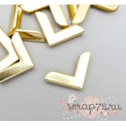 Защитный уголок для альбома золото, металл