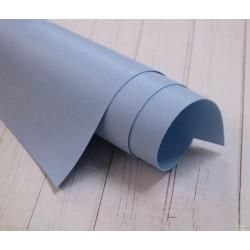 Переплетный кожзам (экокожа) матовый, цвет голубой (Италия) 33*35см