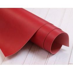 Переплетный кожзам (экокожа) матовый, цвет красный (Италия) 33*35см