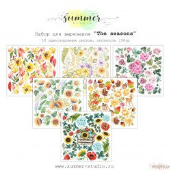 """1/3 набора для вырезания """"The seasons"""", 6 листов"""