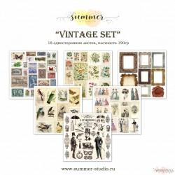 """1/3 набора для вырезания """"Vintage set"""", 20*20см, 6 листов"""