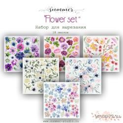 """1/3 набора для вырезания """"Flower set"""", 20*20см, 6 листов"""
