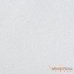 Фоамиран глиттерный 2 мм, белый,  21х29см