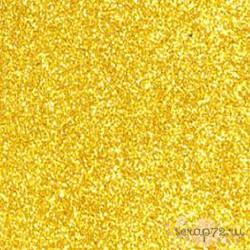 Фоамиран глиттерный 2 мм, темное золото, 21х29см