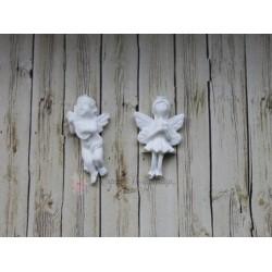 """Набор пластиковых фигурок """"Пара ангелов"""", 2шт 27*17, 30*14мм"""