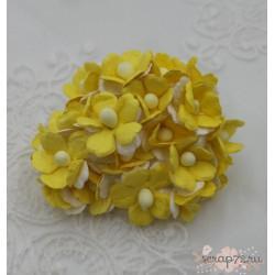 Лютик двухцветный, желтый с белым, 1.5см, 5 цветочков