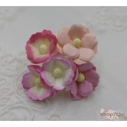 Лютики розовый микс, 5 цветочков разных оттенков