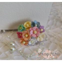 Лютики микс, 1,5 см, 10 цветочков разных оттенков