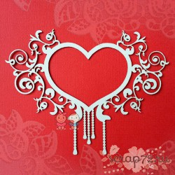 Чипборд рамка - сердце