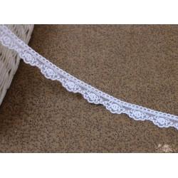 Кружево декоративное, 1,5 см, цвет белый, 1м