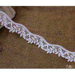 Кружево декоративное, хлопок, 3 см, цвет белый, 1м
