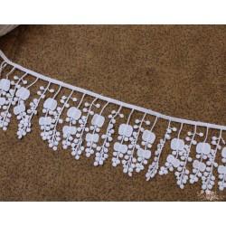 Кружево декоративное, хлопок, 7 см, цвет белый, 1м