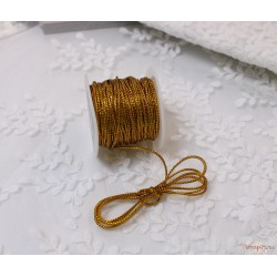 Шнур металлизированный 1мм, золото, 1м