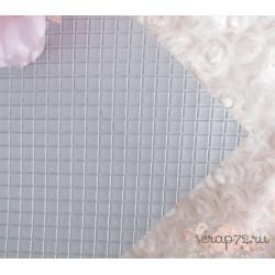 Кожзам на тканевой основе 35х35 см, серебро