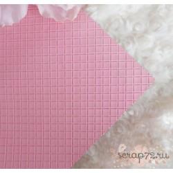 Кожзам на тканевой основе 35х35 см, розовый