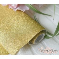 Глиттерная ткань золото, 30х34см