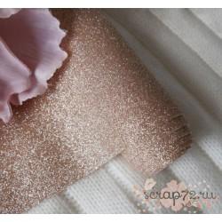 Глиттерная ткань розовое золото, 30х34см