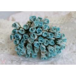Розы в бутонах, 5мм, цвет светло-бирюзовый, 1шт.
