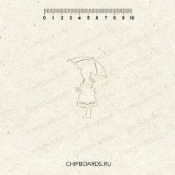 """Чипборд """"Девочка с зонтом"""""""