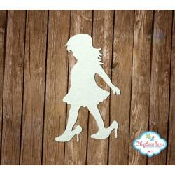 """Чипборд """"Девочка в маминых туфлях"""", 6см, 2шт."""