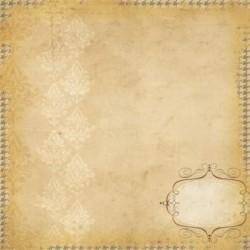 Бумага для скрапбукинга 30*30 см DOCUMENTED BRACKET LABEL/HOUNDSTOOTH