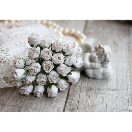 Роза кудрявая в бутонах, 8-10мм, цвет белый, 1шт.