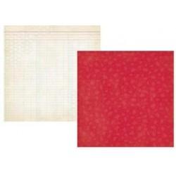 Бумага для скрапбукинга 30*30 см SUMMER FRESH RED FLOWER/HONEYCOMB